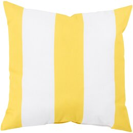 Awning Stripe Lemon Outdoor Pillow
