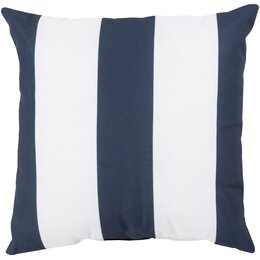 Awning Stripe Navy Outdoor Pillow