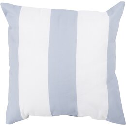 Awning Stripe Dove Outdoor Pillow
