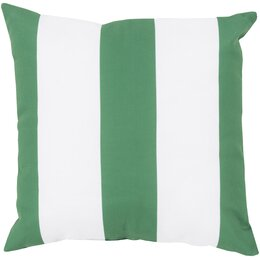 Awning Stripe Kelly Green Outdoor Pillow