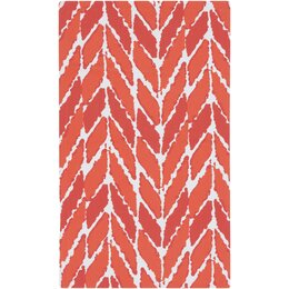 Arrow Tangerine Outdoor Rug
