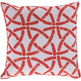 Celtic Trellis Persimmon Outdoor Pillow