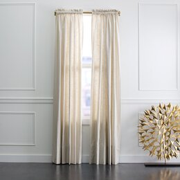 Linen Slub Curtain Panel in Ivory