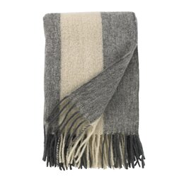Mohair Striped Throw