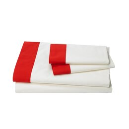 Modern Border Vermillion Sheet Set