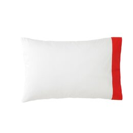Modern Border Vermillion Pillowcase (Set of 2)