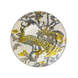 Peacock Salad Plate Set (Set of 4)