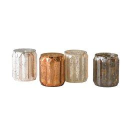 Metallic Mercury Glass Votive Holders (Set of 4)
