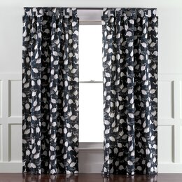Winter Crane Admiral Curtain Panels