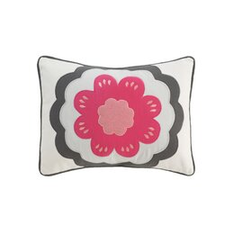Zinnia Boudoir Pillow in Rose