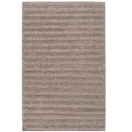 Textured Stripe Parchment Rug