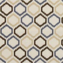 Ikat Trellis Fabric - Mineral