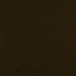 Dotted Trellis Fabric - Major Brown