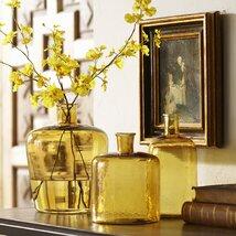 <strong>Glass Bottle Vase, Amber</strong>