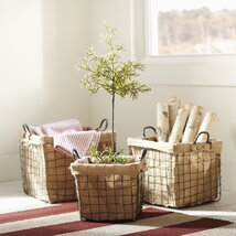 Schoolhouse Baskets (Set of 3)