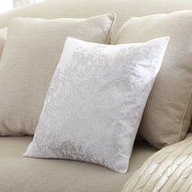 Gemma Cotton Pillow Cover, Silver