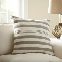 Edie Wool Pillow Cover, Pewter