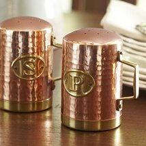 <strong>Hammered Copper Salt and Pepper Shakers</strong>