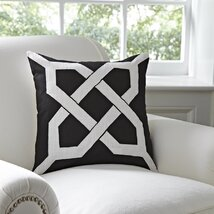 <strong>Kira Cotton Pillow Cover, Black & White</strong>