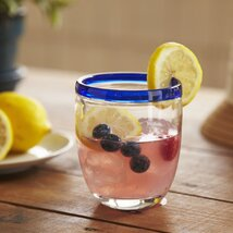 <strong>Jubilee Double Old-Fashioned Glasses, Blue (Set of 4)</strong>
