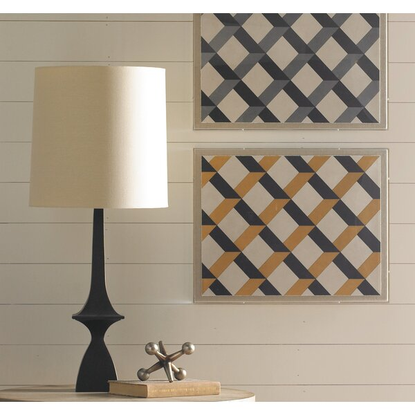 "DwellStudio Freeman 37"" H Table Lamp with Rectangular Shade"