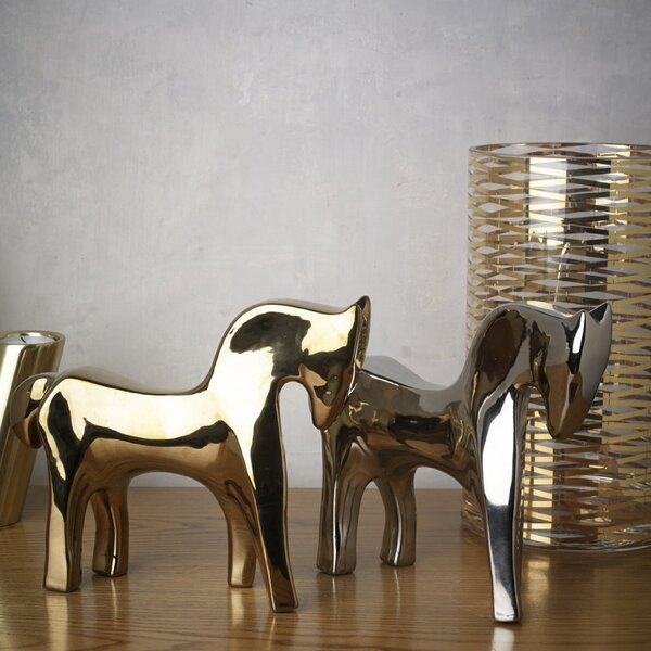 DwellStudio Horse Silver Objet