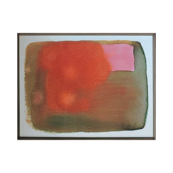 DwellStudio Peach Pink Watercolor Artwork