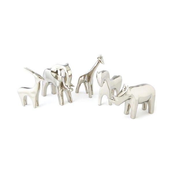 DwellStudio Elephant Silver Objet