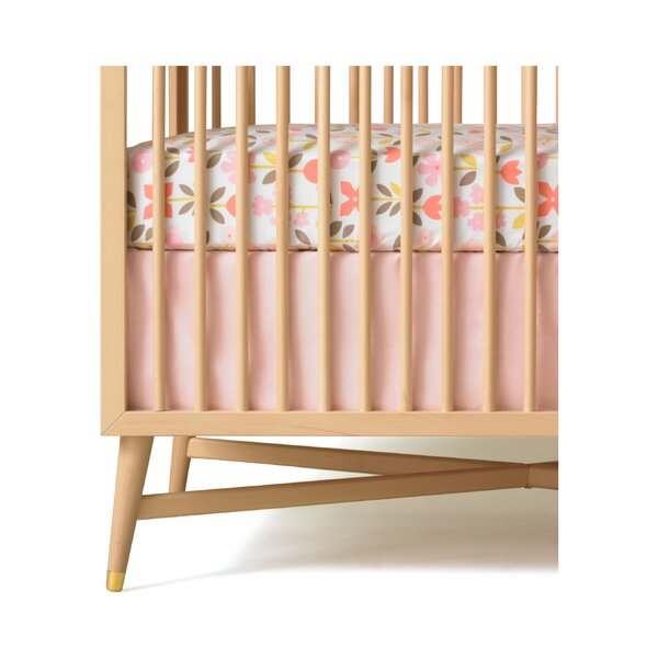 DwellStudio Solid Pink Canvas Crib Skirt