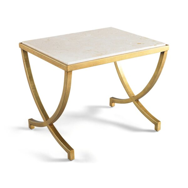 DwellStudio Haviland Antique Gold Side Table