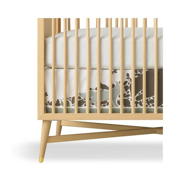 DwellStudio Woodland Tumble Mocha Percale Crib Skirt
