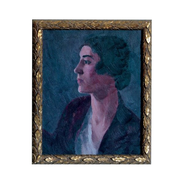 DwellStudio Vintage Lady Brunette Artwork