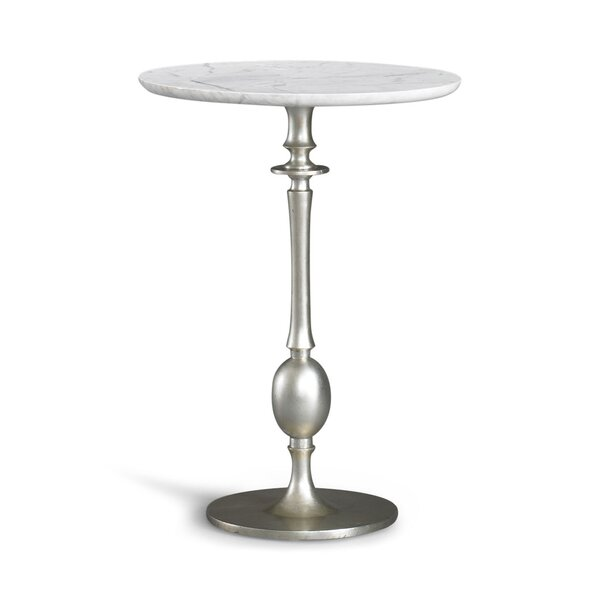 DwellStudio Sebastian Silver Pedestal Table