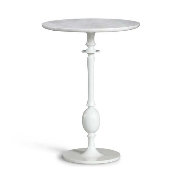 DwellStudio Sebastian White Pedestal Table