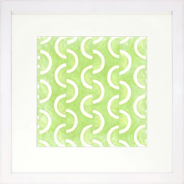 DwellStudio Graphic Pattern Lime Artwork