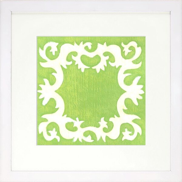 DwellStudio Blockprint Lime Artwork