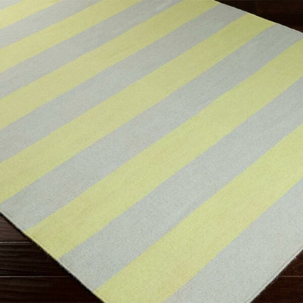 DwellStudio Draper Stripe Dove & Lemon Rug
