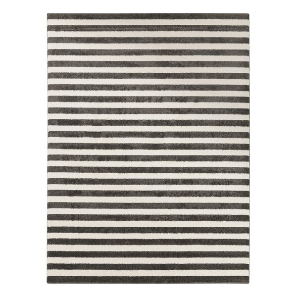 DwellStudio Petite Stripe Slate & Pearl Rug