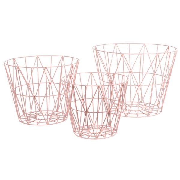 DwellStudio Kimono Rosette Wire Basket