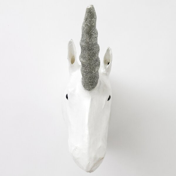 DwellStudio Unicorn Papier-Mâché Head Wall Décor