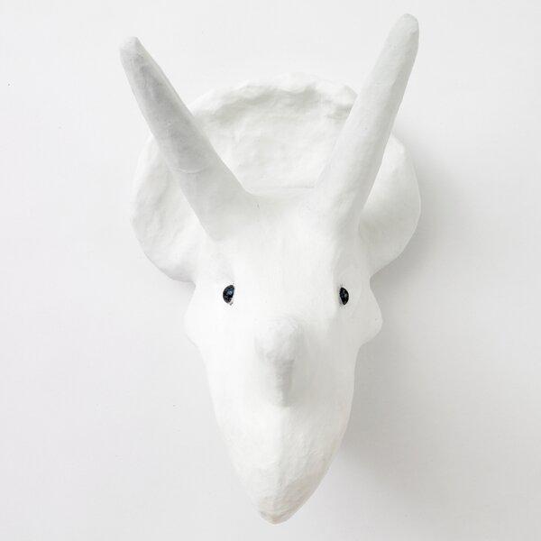 DwellStudio Triceratops Papier-Mâché Head Wall Décor