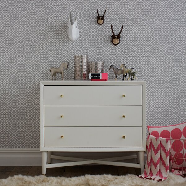 DwellStudio Dotted Diamonds Wallpaper