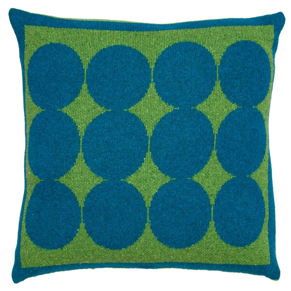 DwellStudio Graphic Dot Lapis & Lime Pillow