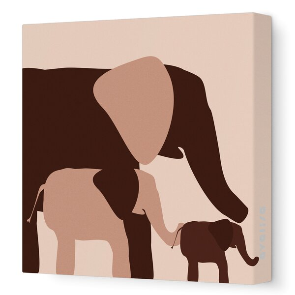 DwellStudio Graphic Elephant Artwork