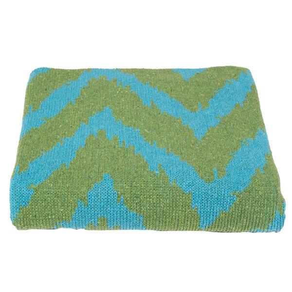DwellStudio Zig Zag Azure & Lime Blanket