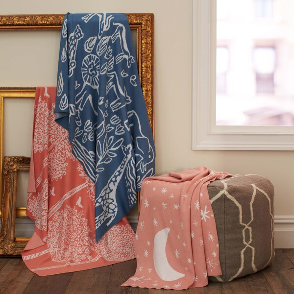DwellStudio Galaxy Blossom Graphic Knit Blanket