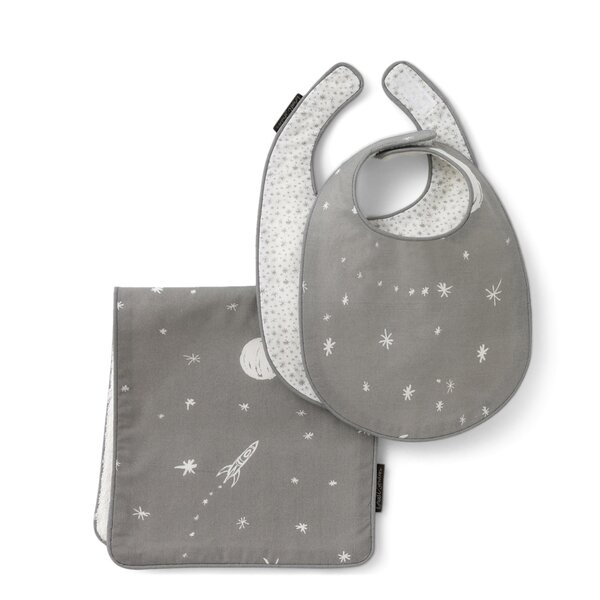 DwellStudio Galaxy Bib & Burp Set
