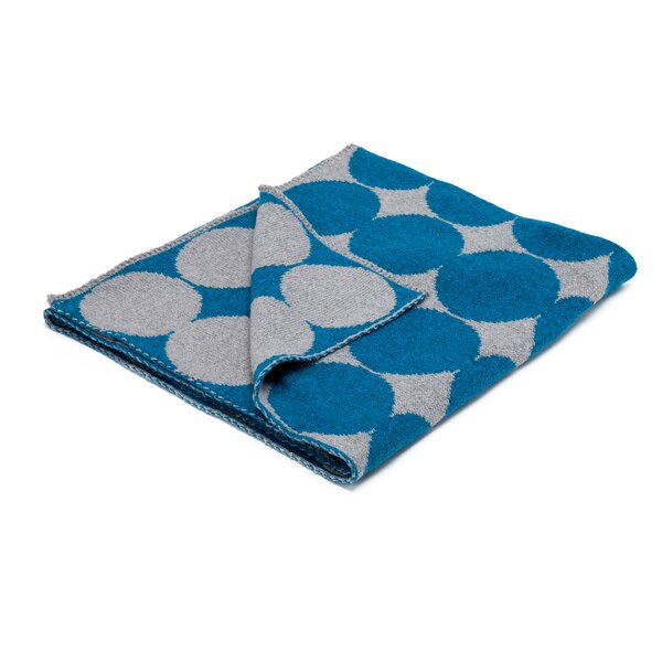 DwellStudio Graphic Dot Lapis & Grey Blanket