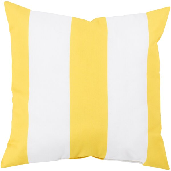 DwellStudio Awning Stripe Lemon Outdoor Pillow