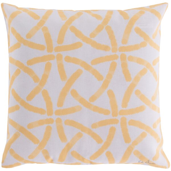 DwellStudio Celtic Trellis Lemon Outdoor Pillow